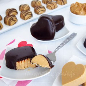 Mouthwatering Peanut Butter Fudge Hearts