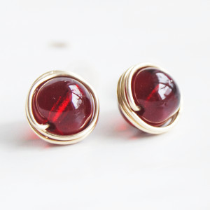 Carnelian Dotty Post Earrings