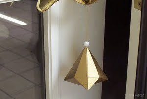 Festive Folded German Paper Bell