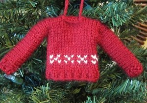 Tiny Sweater Ornament