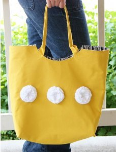 Large Reliable Rounded Tote Bag