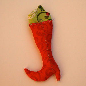 Last Minute Elf Boot Ornament