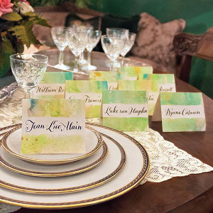Artsy Watercolor Place Cards