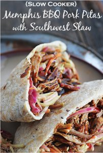 Memphis BBQ Pork Pockets with Southwest Slaw