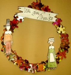 Recycled Pilgrim Wreath