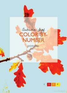 Autumn Leaf Color By Number Printables Allfreekidscrafts Com