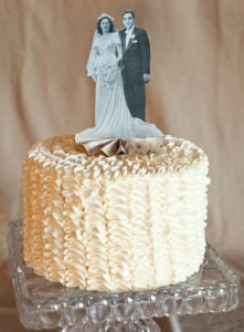 Beautiful Vintage Photograph Cake Topper
