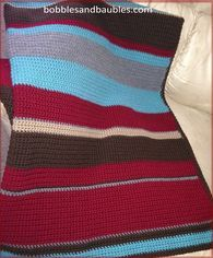 Decadent Candy Striped Afghan