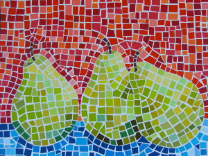 Paint Chip Mosaic Art