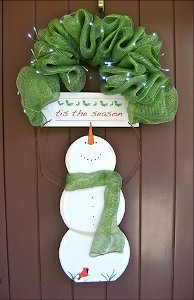 Tis the Season Snowman Door Hanger