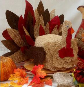 Burlap Turkey Craft