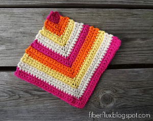 Rainbow Sherbet Dishcloth