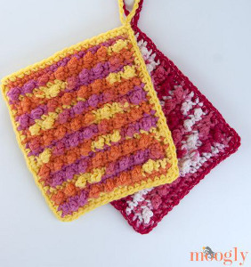 Beginner's Picots Bath Mitt