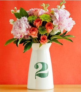 Super Easy Glitter Table Number Vases