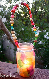 Rainbow Mason Jar Lanterns