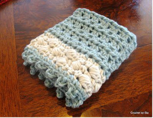 Crochet Puff Washcloth
