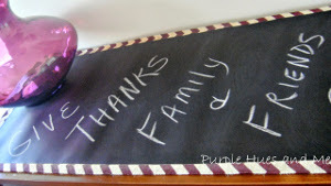 No-Sew Schoolhouse Chalkboard Table Runner