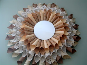 Paper Ephemera Sunburst Mirror