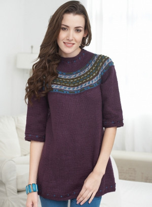 Modern Cardigan Knitting Patterns : Modern Icelandic Sweater AllFreeKnitting.com