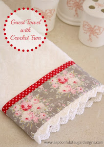 Guest Towel with Crochet Trim