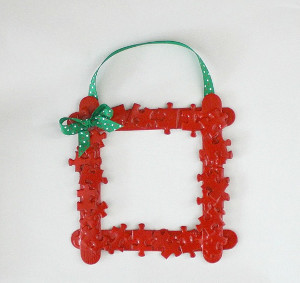 Puzzle Piece Frame Ornament