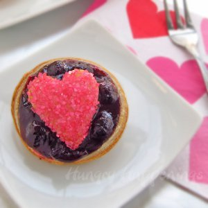 Sweet Mini Blueberry Heart Tarts