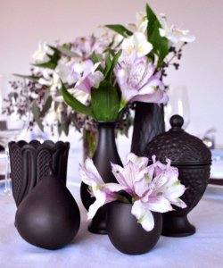 Stylish Painted Vases Centerpieces