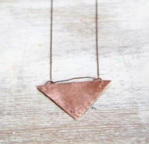 Burnished Copper Necklace