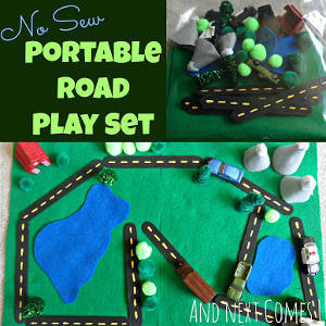 No-Sew Portable Road Playset