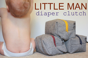 Little Man Diaper Clutch