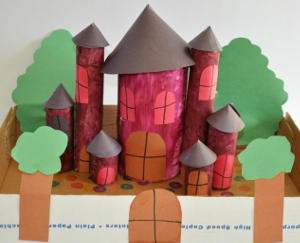 Pretty Toilet Paper Roll Castle