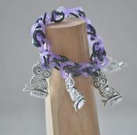 Owl Charm Rainbow Loom Bracelet