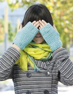 Tiffany Blue Fingerless Mitts