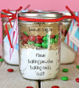 great christmas gift ideas 10 minute holiday cookies in a jar - Christmas Cookie Gift Ideas