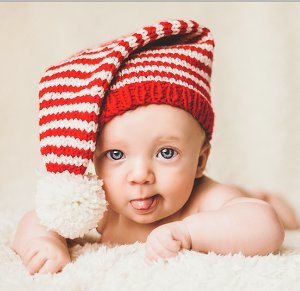 Tiny Candy Cane Stocking Cap