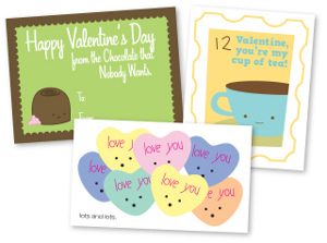 Lots and Lots of Printable Valentines