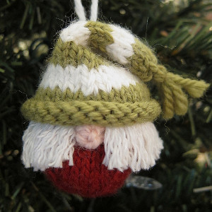 Cute Knit Elf Ornament