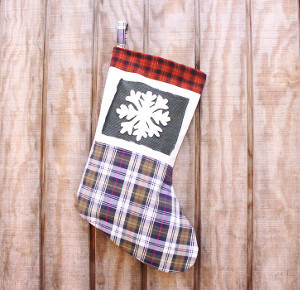 Rustic Upcycled Christmas Stocking