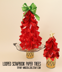 Mini Scrapbook Paper Christmas Tree