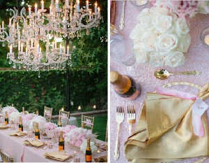 Exquisite Champagne and Rose Party