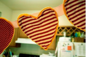 Valentine's Day Heart Bunting