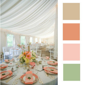 Pink, Coral, and Mint Wedding Decor