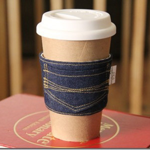 James Dean Blue Jean Coffee Cozy