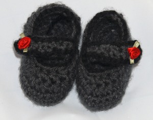 Mary Jane Baby Booties Crochet Pattern