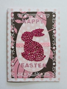 Jeweled Easter Bunny Card