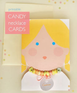 Printable Candy Necklace Cards