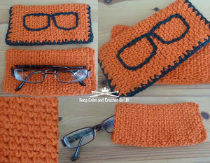 Hipster Crochet Glasses Case