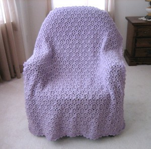 Crocheted Lavender Afghan