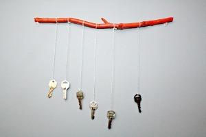 Rustic Recycled Keys Windchime