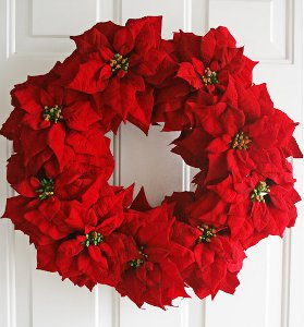 Breathtaking Poinsettia Wreath